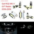 11 unids led canbus luces interiores kit package para volkswagen vw rabbit mk v golf r32 git (2006-2009)