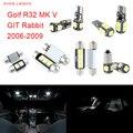 11pcs LED Canbus Interior Lights Kit Package For Volkswagen VW MK V Golf R32 GIT Rabbit (2006-2009)