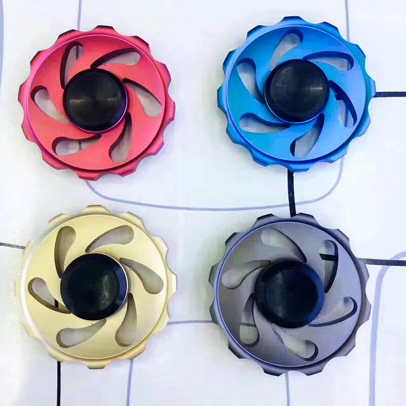 KOSBON Aluminum alloy metal material Fidget Finner Spinner With High Speed606 plastic bearing for adults children