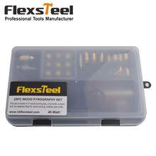 Flexsteel 25 шт 40 Вт древесная пирография набор деревянный