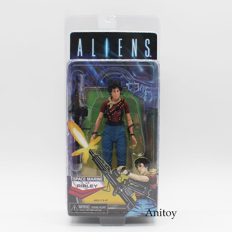 NECA ALIENS Space Marine LT. Ripley PVC Action Figure Collectible Model Toy 18cm KT3751 neca official 1979 movie classic original alien pvc action figure collectible toy doll 7 18cm