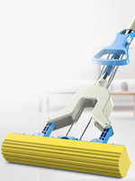 [TB02]Water absorbent sponge mop head folded household cotton mop lazy mop rotating hand free wet and dry