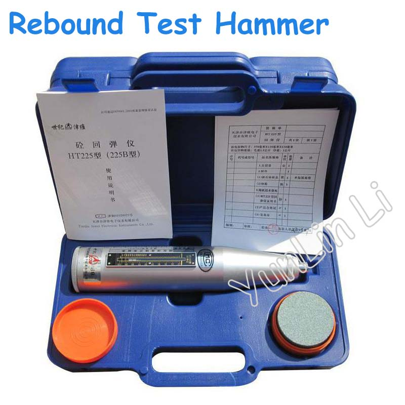 Portable Schmidt Hammer Testing Equipment Resiliometer Concrete Rebound Test Hammer (Blue Instrument Case) HT 225B