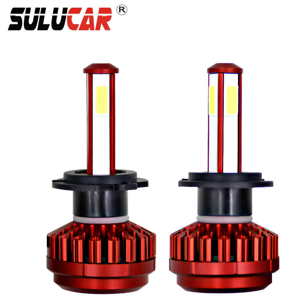 SULUCAR Mini Car Headlight H4 LED H7 H1 H3 H11 9005 Accessories Waterproof 12V  6500K Light Bulbs Automobile Front Head Bulbs