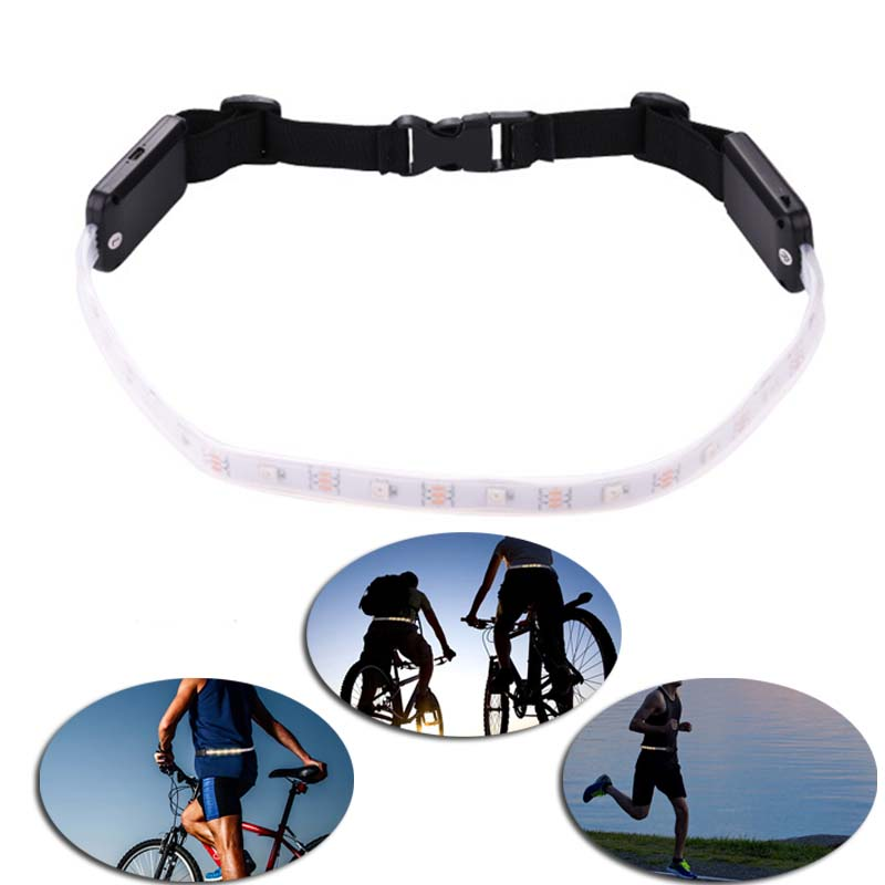 2018 New Arrivals 800 mAh Cycling Safety Warning Waist Belt Riding MTB Running Outdoor Night Lamp LED Bicycle Light Accessories
