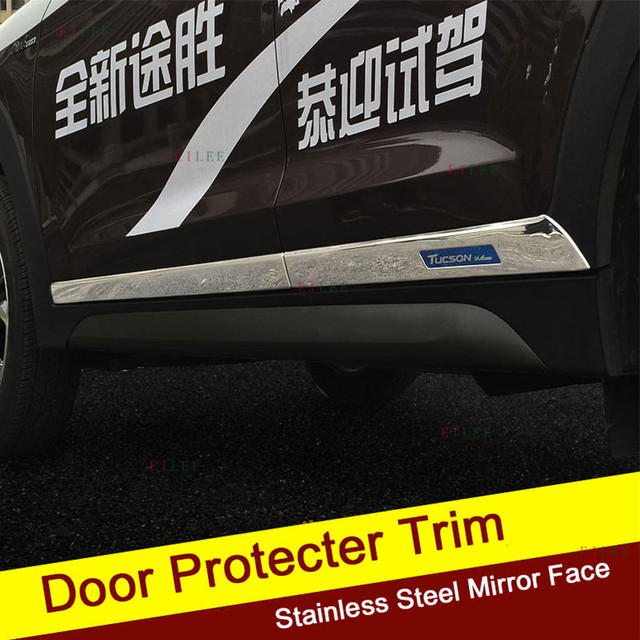 Mirror Surface Fit for Hyundai All New Tucson 2015 2016 2017 Stainless Steel Door Trim Guard & Mirror Surface Fit for Hyundai All New Tucson 2015 2016 2017 ...