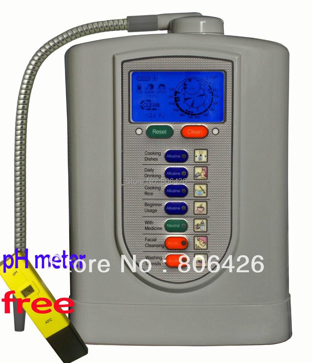 Livraison gratuite Kangen ioniseur/eau alcaline/eau cathodique/eau ionique/hydrogène (JapanTechTaiwan fact) filtre NSF intégré + ph-mètre