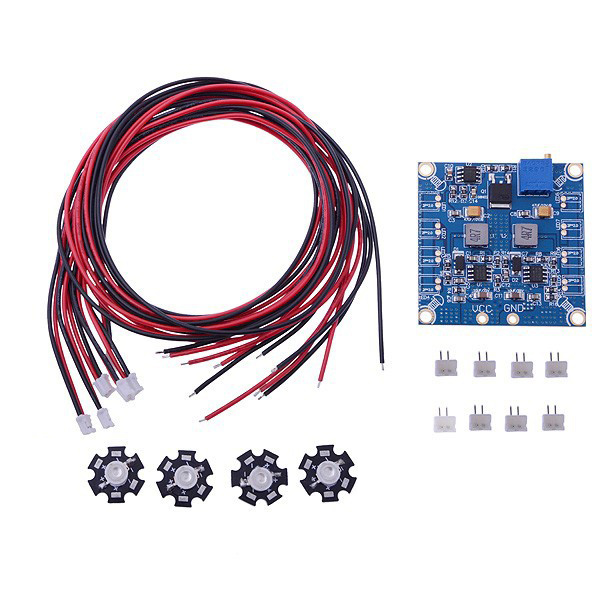 F07945 RC LED Flashing Night Light w/ Control Board Module & Extension Wire for Quadcopter FPV + FS rc led flashing light night light w led board and led extension wire for quadcopter 4 pcs