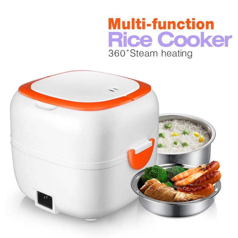 Multi-function Mini Rice Cooker Lunch Box 200W Thermal Insulation Electric Food Heater Steamer for Student Office Workers 220v 600w 1 2l portable multi cooker mini electric hot pot stainless steel inner electric cooker with steam lattice for students