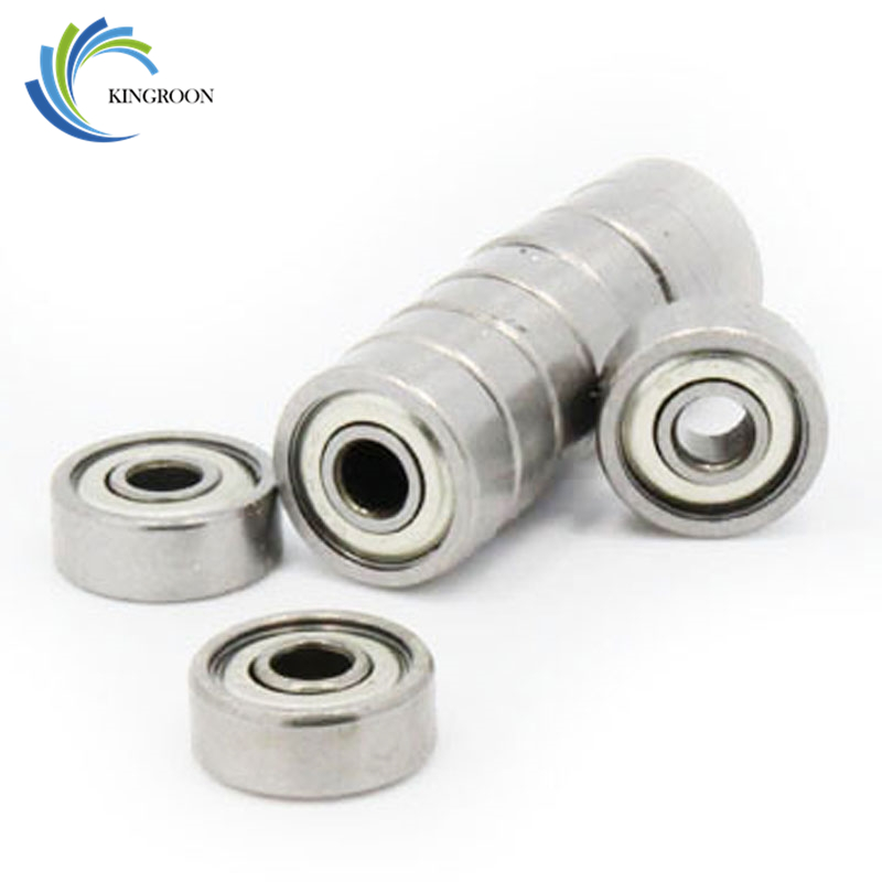KINGROON 10PCS/LOT 624 624Z 624ZZ Ball Bearing 4*13*5 Mm Chrome Steel Bearing  Deep Groove Steel Sealed Ball Bearings