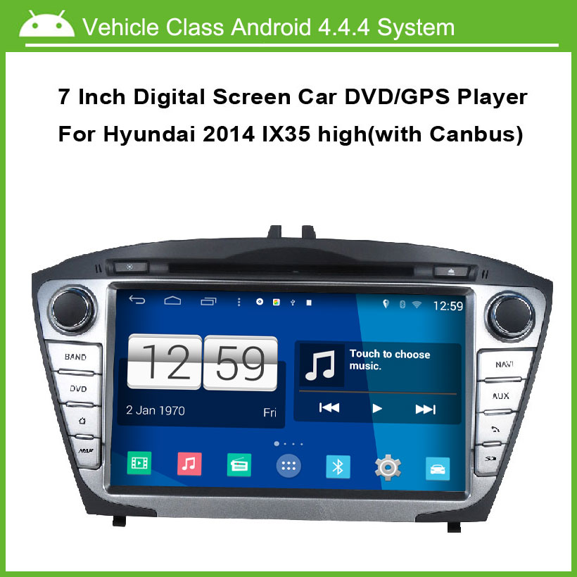 Android Car DVD Video Player For Hyundai IX35 TUCSON 2014 GPS Navigation Multi-touch Capacitive screen,1024*600 high resolution.
