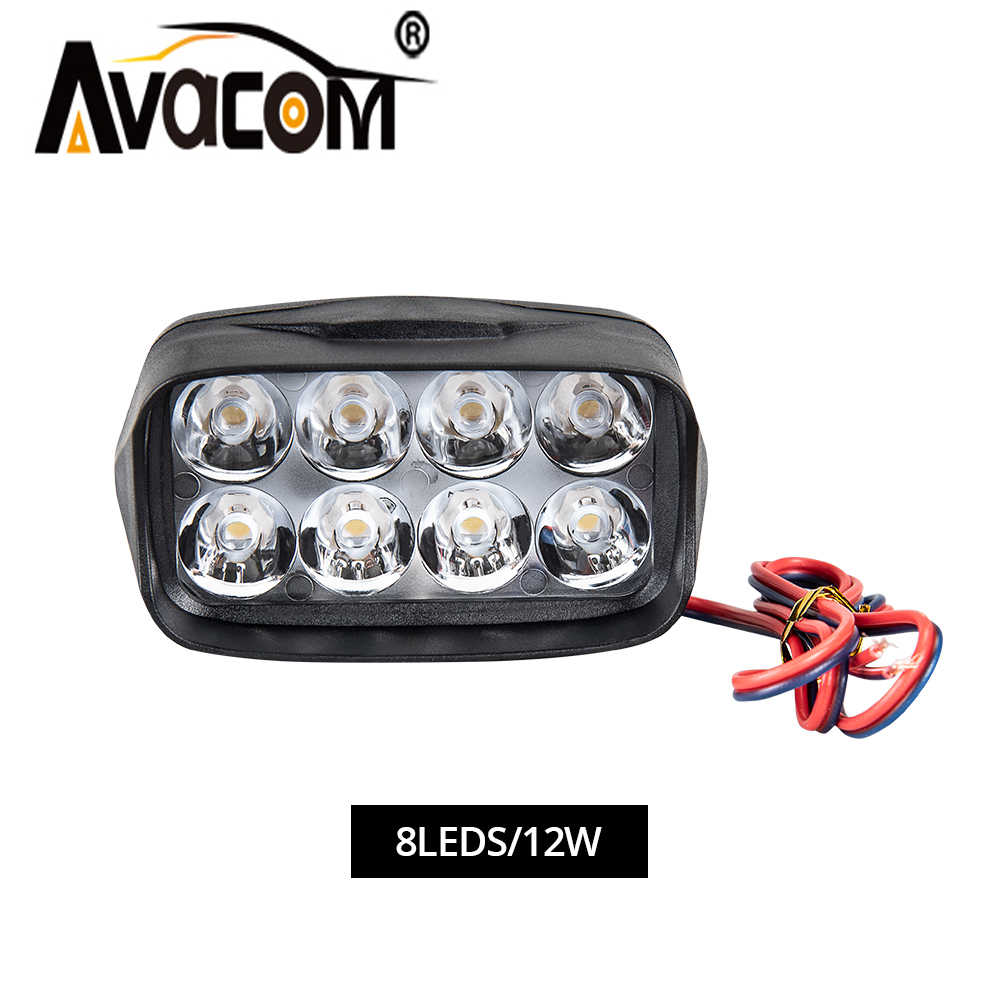 AVACOM 4inch Car Led Work Light Lamp Bars 6500K ATV LED Working Lights Truck 12V Tractor Offroad Driving Auto DRL Fog Spotlights