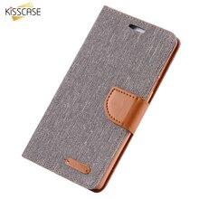 KISSCASE Book Flip Cloth Skin Phone Case For Samsung Galaxy S8 Plus S7 S7 Edge S6