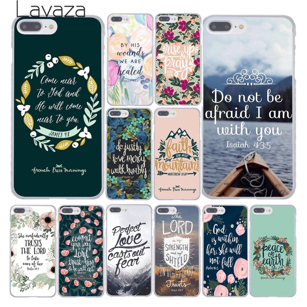 Lavaza Bible verse Philippians Jesus Christ Christian Phone Case for Apple iPhone X XR XS Max 6 6S 7 8 Plus 5 5S SE 5C 4S 10 iPhone 4s
