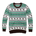 Man Knitted Sweater Male Round Neck Pullover Sweaters Korean Men Winter Christmas Deer Pattern Knitted Pullovers X176