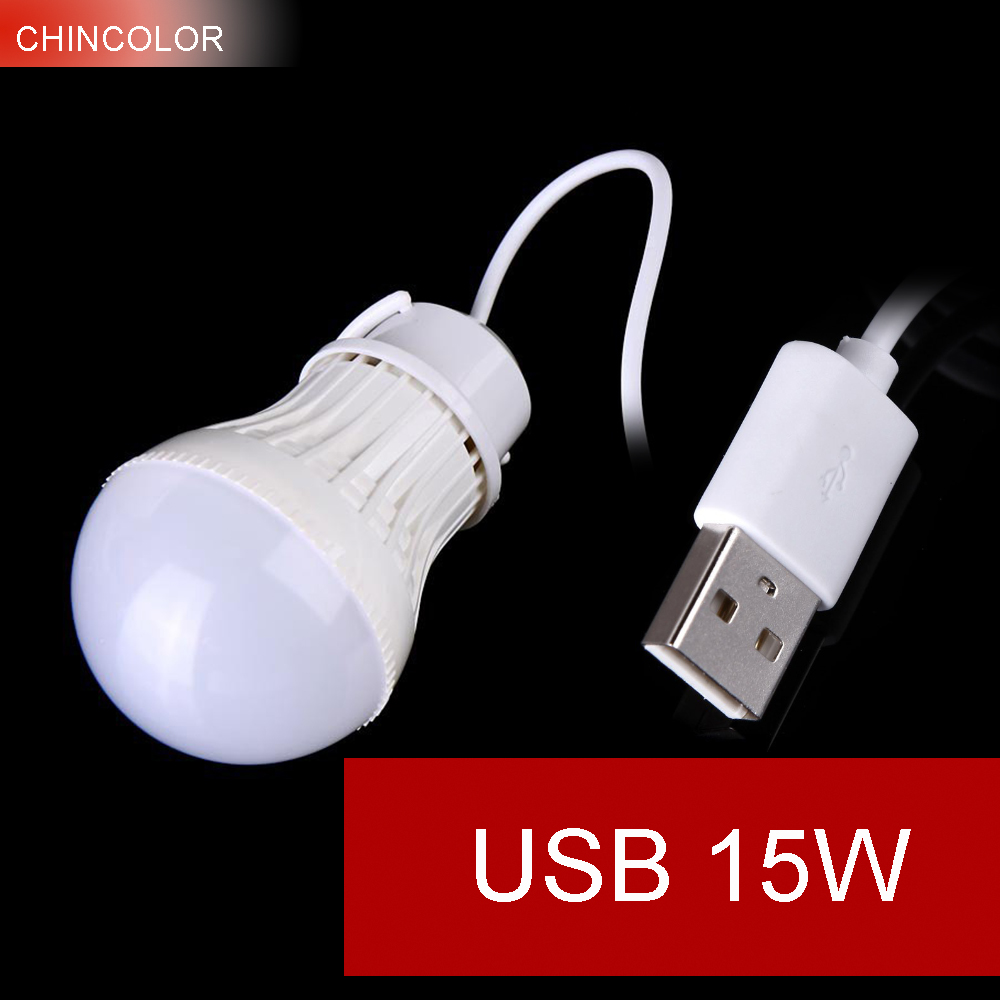 USB LED Bulb 15W Outdoor Led Lamp Light Bulb 5V White Emitting Color Bubble Ball Energy Saving Brightness Portable New HL ноутбук hp omen 17 an016ur 2500 мгц dvd±rw