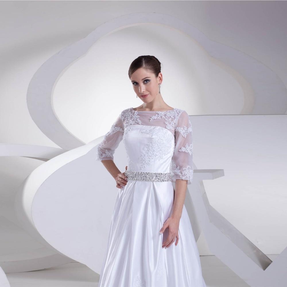 Hochzeit Kleid 2018 SoDigne Scoop Spitze Applique Brautkleid Vintage ...