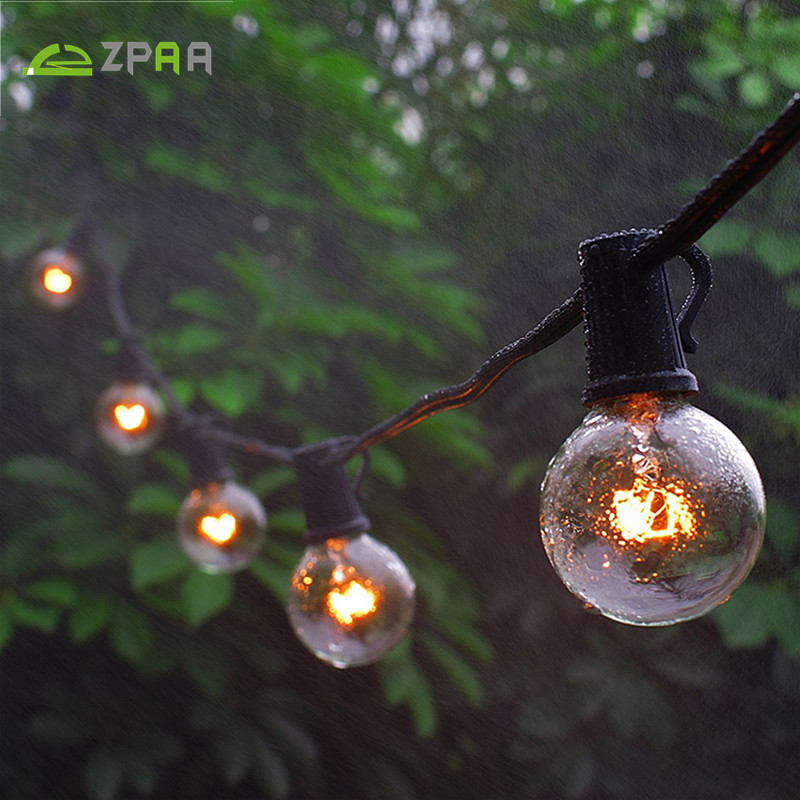Patio Lights Christmas G40 String Light Globe Lighting With Clear Bulb  Backyard Lights Vintage Bulbs Decorative Garland Wedding