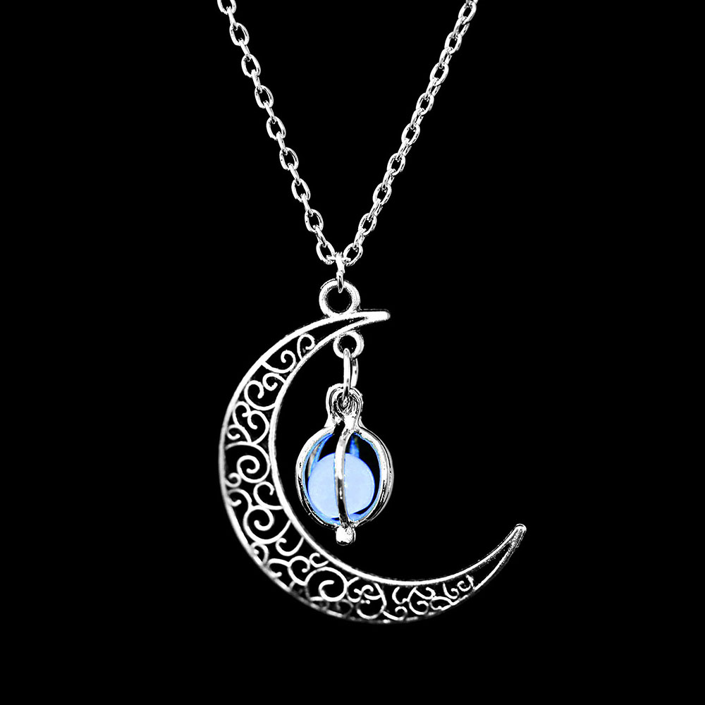 Vienkim Neo-Gothic Luminous Pendant Necklace Women Charm Moon In The Dark Glowing Stone Necklaces For Jewelry Christmas Gifts 13