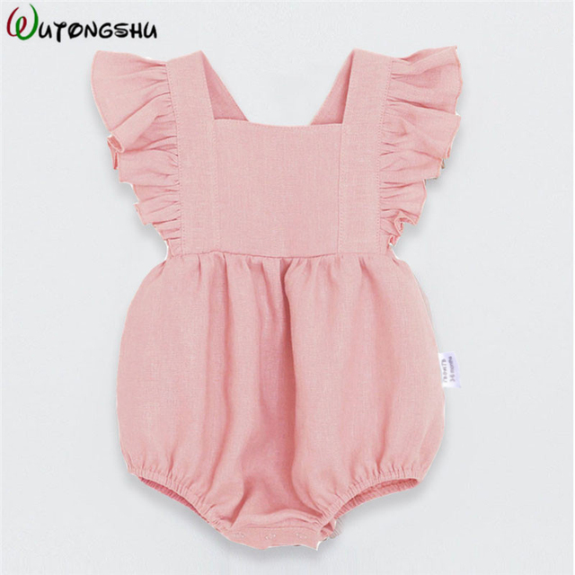 Summer Baby Girl Clothing Long Sleeves Baby Girl Rompers Clothes Spring Infant Product Set Newborn Baby Clothes For Girls 0-2Y