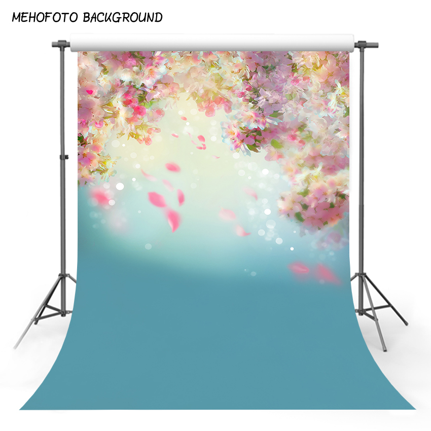 5X7FT Polyester Photography Background Vintage Flower Custom Vinyl Baby Shower Photo Backdrops for Photo Studio ZH-255-D vinyl floral flower newborn backdrops cartoon unicorn photography background studio photo props 5x3ft
