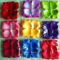 100 unids/lote pétalos de rosa para bodas Decoraciones de Flores de Poliéster para La Boda Romántica