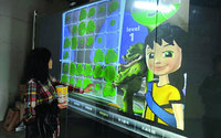 2015 Interactive Touch Foil Film Though Glass 46 Inch Transparent Touch Foil Ratio 16 9 10