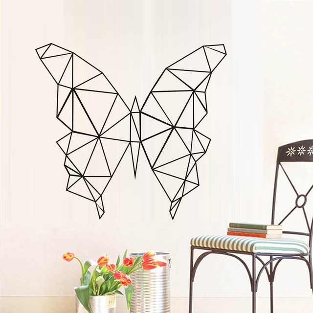 Geometric Erfly Wall Stickers Kids Bedroom Vinyl Art Sticker Home Decor Geometry Series Decals