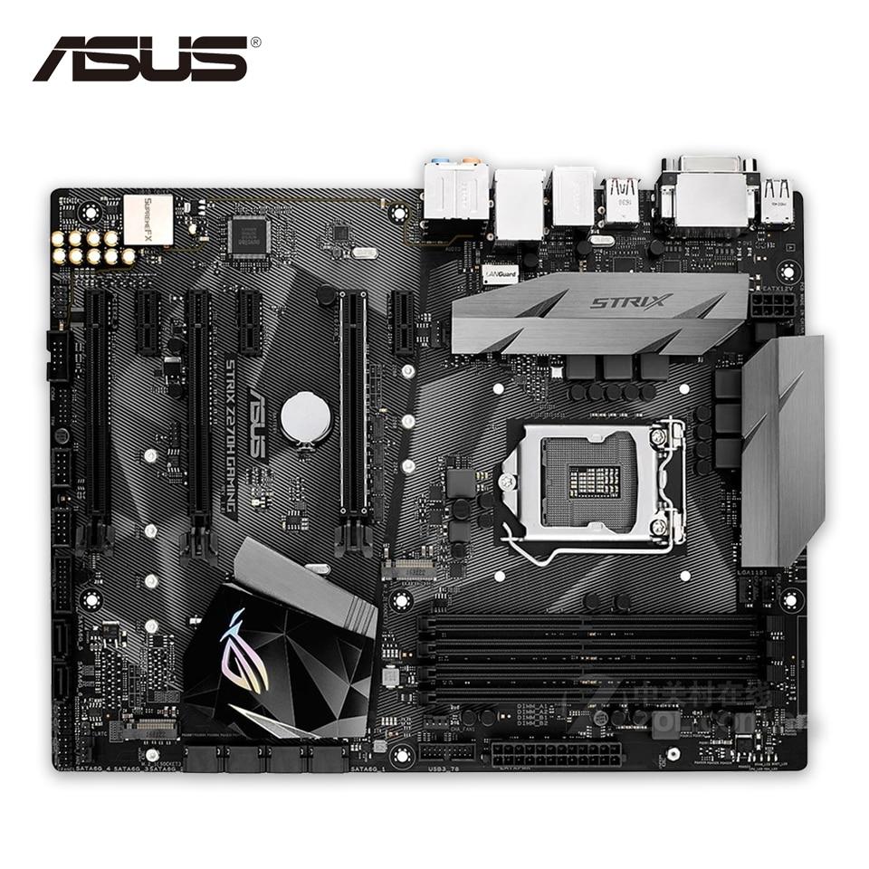 все цены на Asus ROG STRIX Z270H GAMING Original New Desktop Motherboard Z270 LGA 1151 DDR4 64G SATA3 USB3.1 ATX онлайн