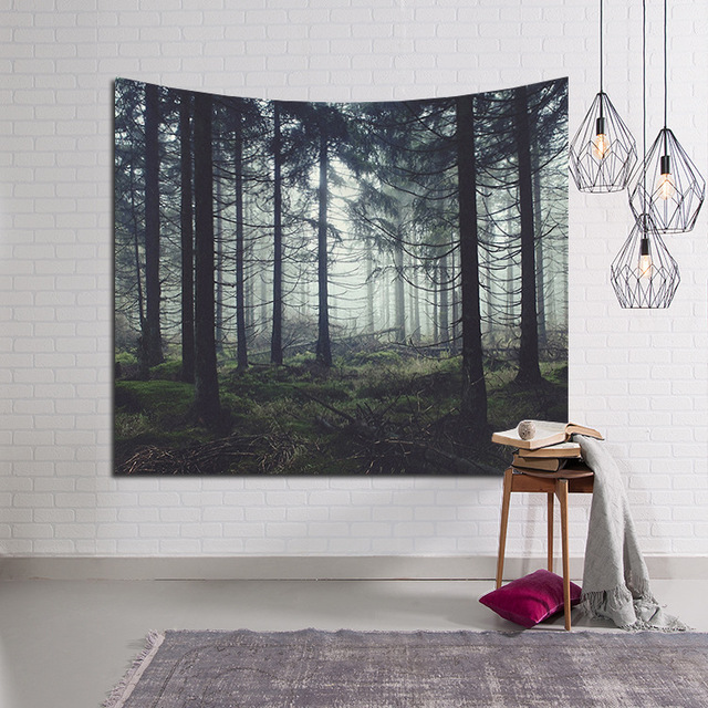 3D Forest Tree Jungle Series Tapestry Wall Hanging Art Tapestries For Home  Bedroom Decoration Beach Towel