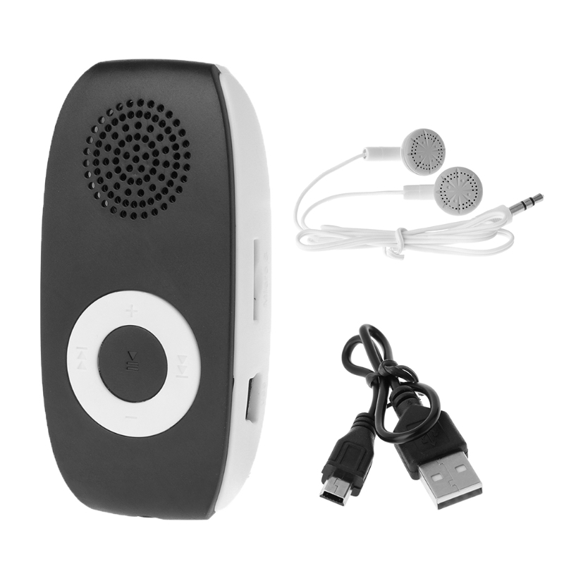 1 Set New Mini Clip MP3 Player With Micro TF / SD Card Slot+USB Data Line+Sport Headset MP3 Music Player