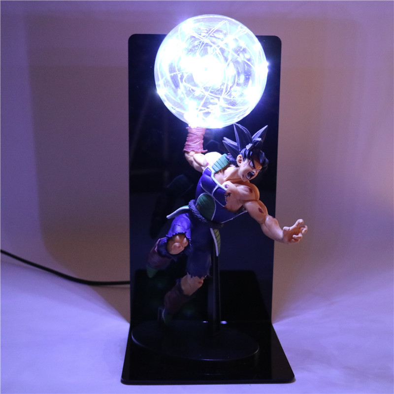 Action Figures Collectible Dragon Ball Z Figurine Goku Father DIY Anime Model Baby Dolls Light for