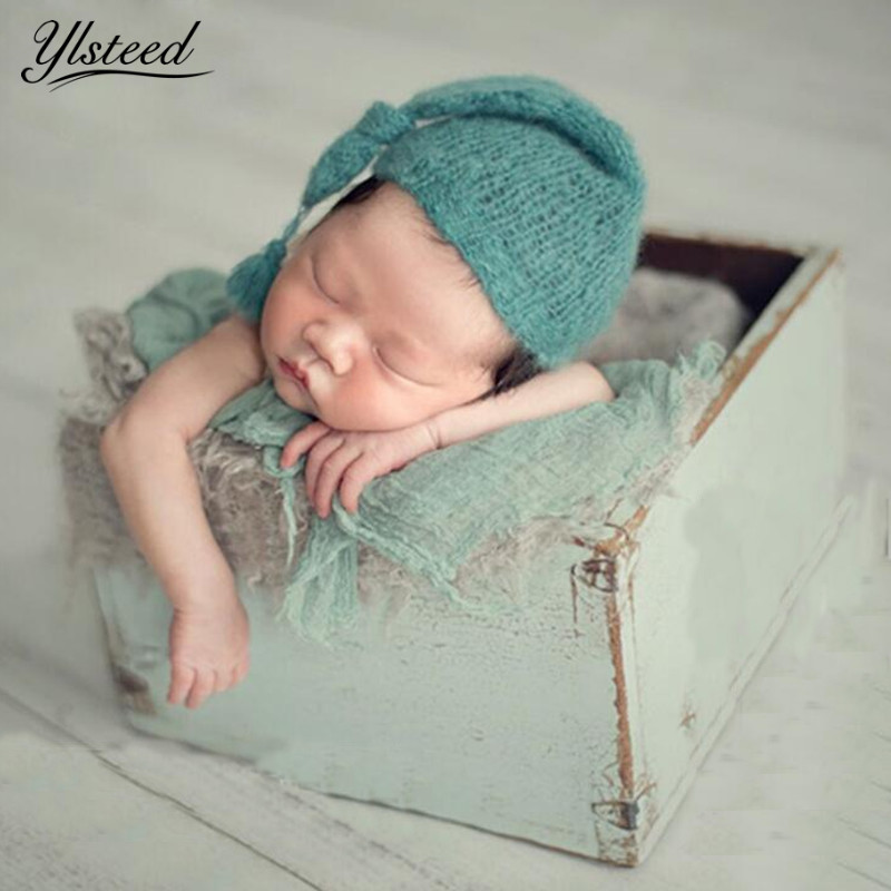 Newborn Photography Props Crochet Infant Photo Outfits Baby Hat with Tail Tassel Knot Photographic Props Baby Photo Shoot Ideas newborn crochet baby costume photography props knitting baby hat bow infant baby photo props newborn baby girls cute outfits