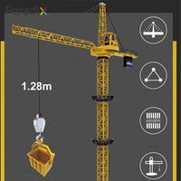 Practical Crane Toy Yellow Educational Decor Engineering Crane Toy Beginning Ability Collection Tower Crane