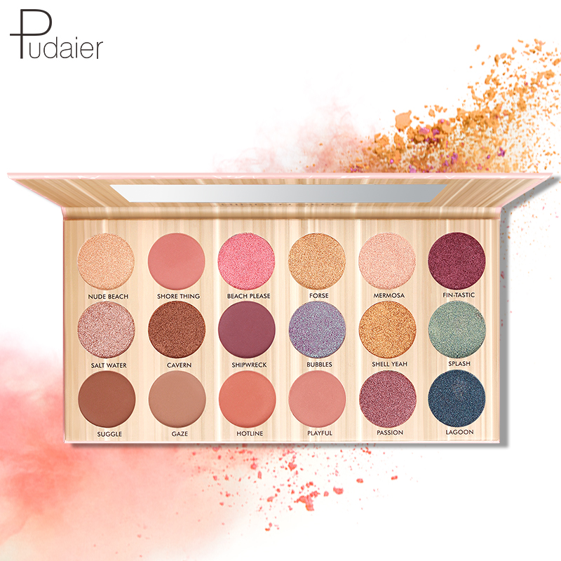 Pudaier Eyeshadow Makeup Palette 18 Color Pink Pur