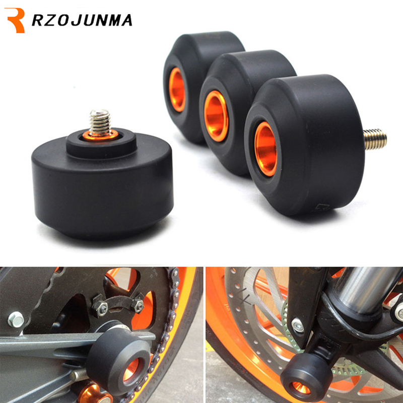 For KTM RC 125 200 250 390 DUKE Motocycle Accessories Front & Rear Fork Wheel Protector Crash Sliders Cap Pad кофры komine