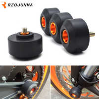 For KTM RC 125 200 250 390 DUKE Motocycle Accessories Front & Rear Fork Wheel Protector Crash Sliders Cap Pad