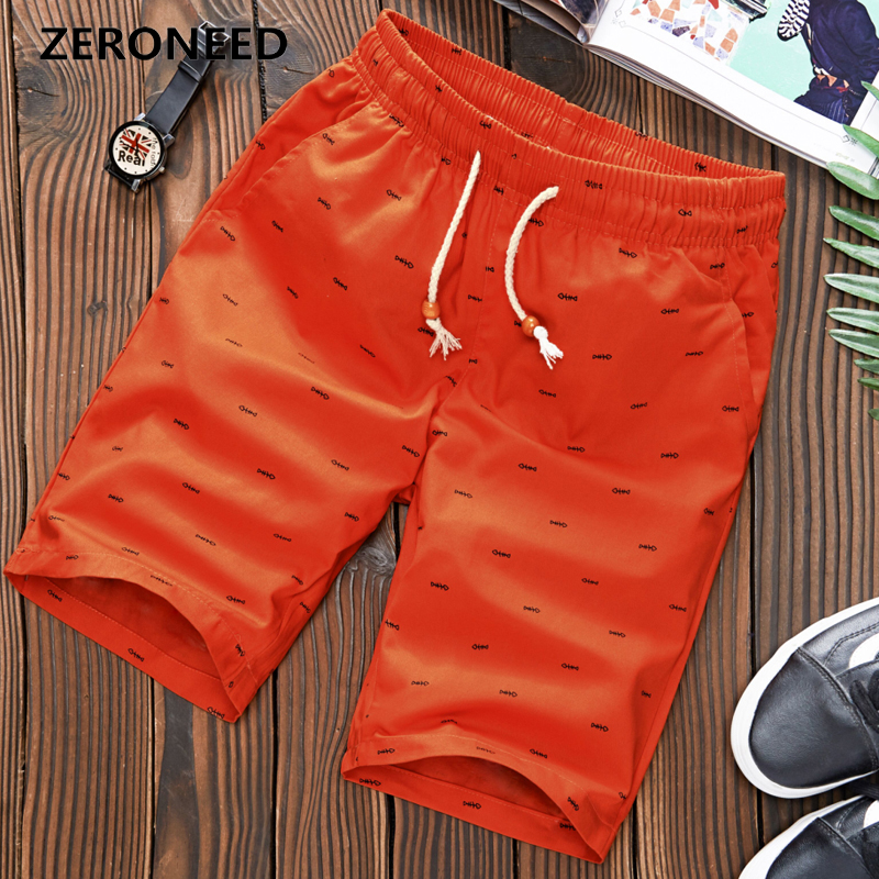Zeroneed Brand Shorts Men 2019 New Summer Casual Clothing Male Knee Length Bottoms Thin Breathable comfort Shorts Drawstring 291