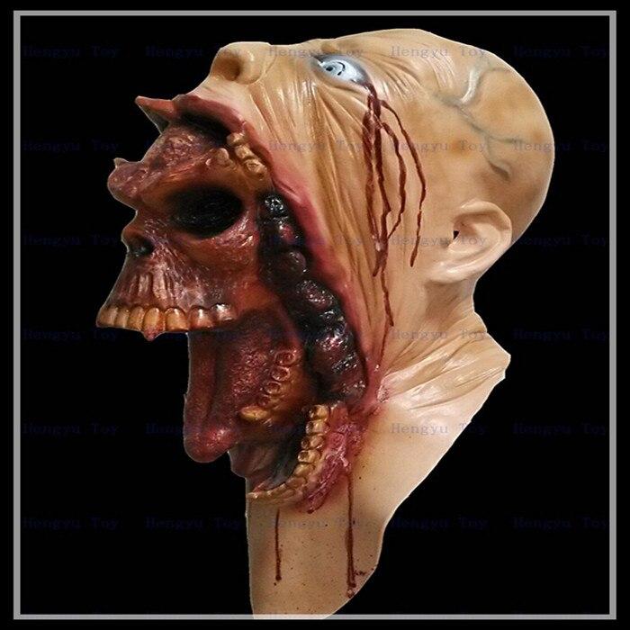 Livraison gratuite Halloween Monstre Costumes Horreur Latex Masque Halloween Naturel Émulsion Effrayant Masque Parti Cosplay Mascarade Masques