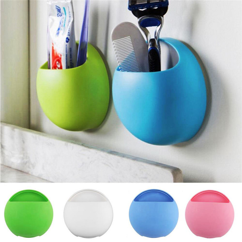 1Pc Novelty Egg Design Toothpaste Toothbrush Holder Strong Wall Suction Cup Organizer Kitchen Bathroom Accessories Drop Shipping image