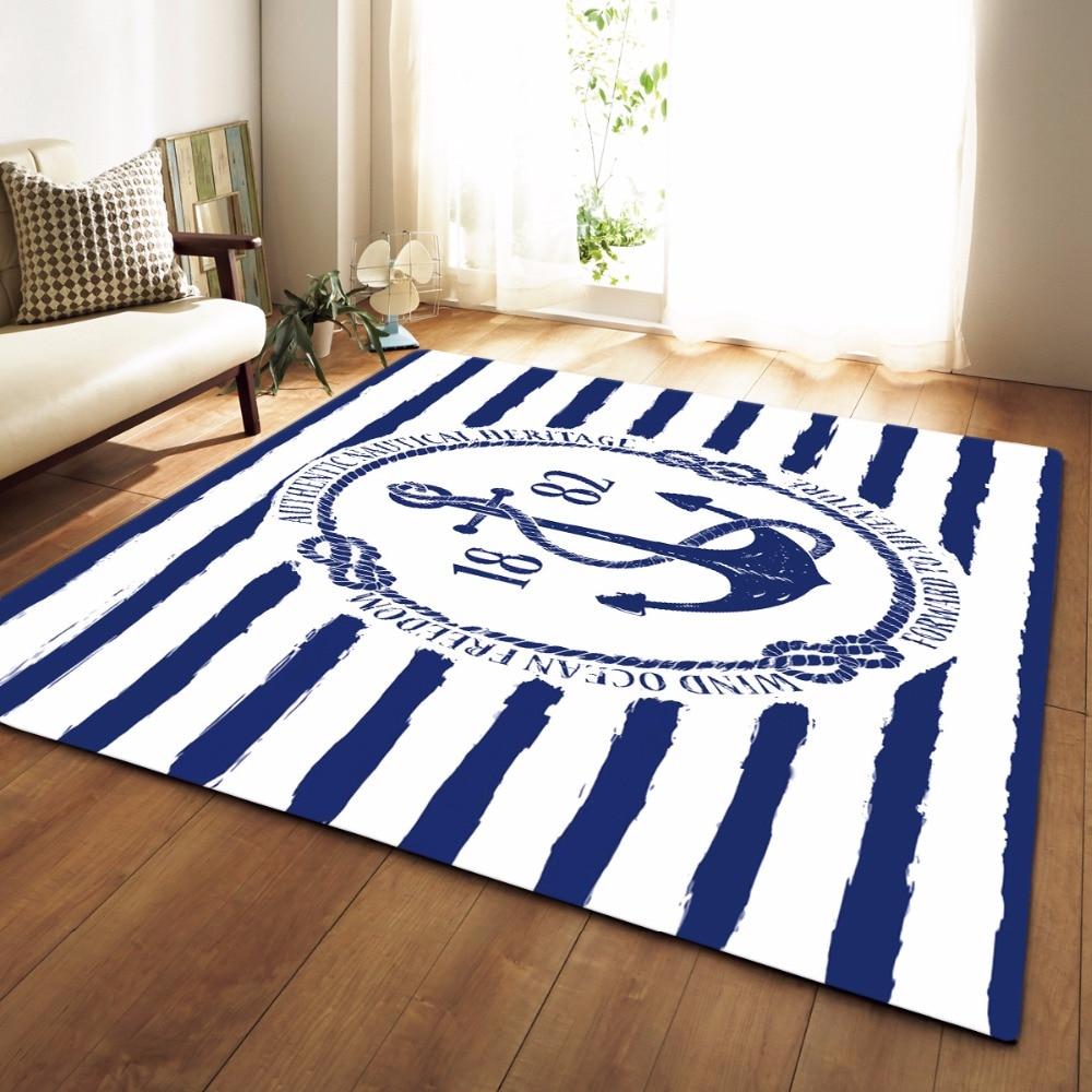 US $25.19 50% OFF New European Style Mediterranean Carpet Rug for Living  Room Cute Cat Blue Bedroom Rugs Tea Table Rectangular Floor Mat-in Carpet  ...