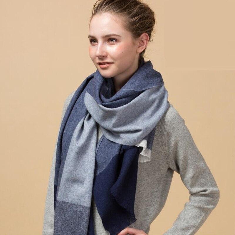Winter Pliad Wool   Scarf     Wraps   Women Extra Long Large Blanket Scarfs Shawl Super Soft Warm 200x70cm Luxury Top Quality 200x70cm