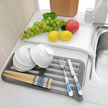 Double Layer Drain Rack Dish Drainer Tray Shelf Kitchen Dish Drainer Sink Storage Holder Tray orktop Kitchen Organizer Dropship