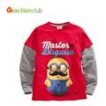 Boy T-shirt 3-8 Year Kids Clothing For Boys T-shirt Children Cotton Long-sleeve Casual Roupas Infantis Menino KU952