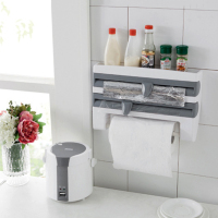New ABS Kitchen Foil Film Wrap Tissue Paper Dispenser Kitchen Roll Holder Rack Storage Shelf
