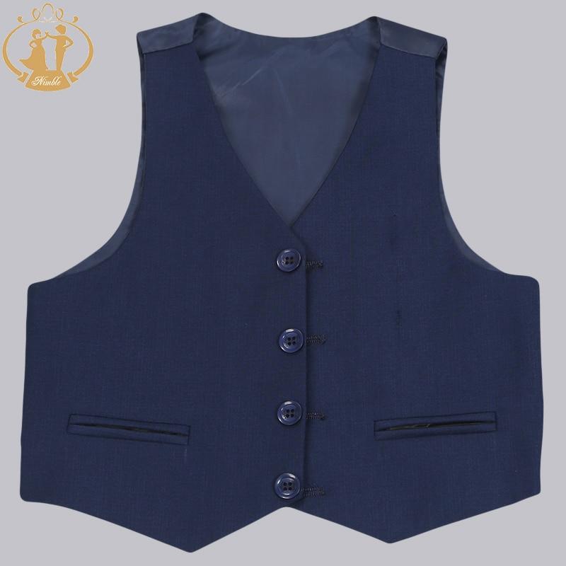 Nimble Brand New Formal Solid Boy Suits Set 3 stycken + Jacka + Pant - Barnkläder - Foto 6