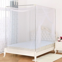 Popular Sale Quadrate Single Door Mosquito Net Home Simple Design Summer Mosquito Nets For Double Bed