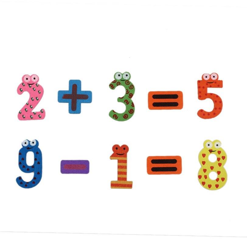 Магниты на холодильник Стикеры s 15 шт. деревянные Математика Стикеры раннего обучения Развивающие игрушки для детей Прямая доставка