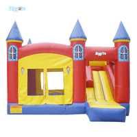 Hot Sale House Shape Inflatable Castle With Slide For Chidren And Adult