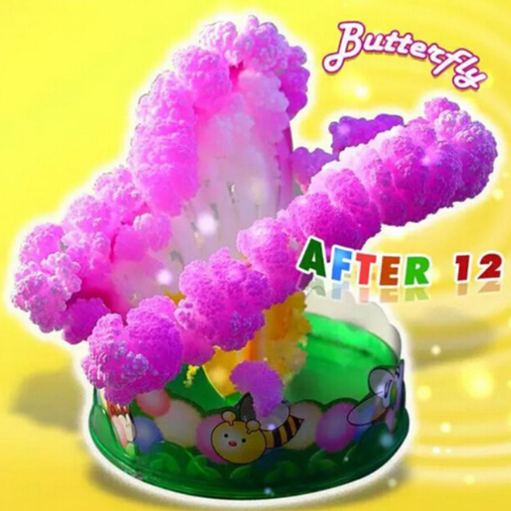 2019 60mm H Pink Magic Growing Paper Butterfly Tree Magical Grow Christmas Funny Trees Wunderbaum Kids Science Toys For Children